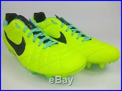 Nike Mens Rare Tiempo Legend IV FG Yellow Green Soccer Cleats Boots Size 8