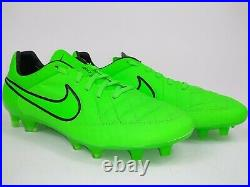Nike Mens Rare Tiempo Legend V FG 631518 330 Green Black Soccer Cleats Size 9