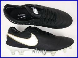 Nike Mens Rare Tiempo Legend VI FG 819177 010 Black Gold Soccer Cleats Size 9