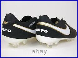 Nike Mens Rare Tiempo Legend VI FG 819177 010 Black Gold Soccer Cleats Size 9.5
