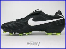 Nike Mens Rare Tiempo Legend lll FG 366201 017 Black Gold Cleats Boots Size 12