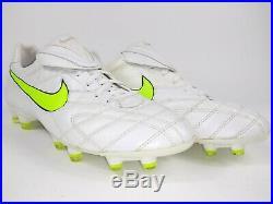 Nike Mens Rare Tiempo Legend lll FG 366201 170 White Red Soccer Cleats Size 10