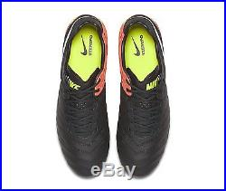 Nike Mens Tiempo Legend VI FG Soccer Cleat Sz. 11 Black, Orange