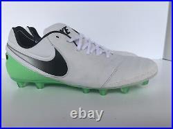 Nike Sz 9 Tiempo Legend VI 6 Hg Soccer Cleat White/green Rare Sample 819220-103