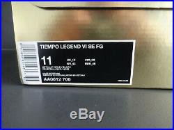 Nike TOTTI Tiempo Legend X Limited Edition Rare As Roma Shoes, NIKE UK10 EU45