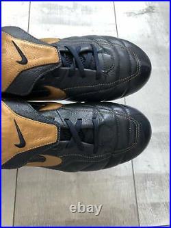 Nike Tiempo Air Legend FG Football Cleats Leather Blue US9.5 Ronaldinho Bosnia