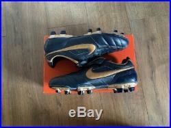 Nike Tiempo Air Legend I FG Marine/Gold UK 10, US 11, EU 45