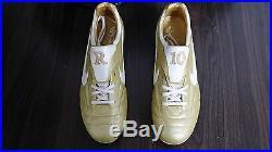 Nike Tiempo Air Legend R10 Ronaldinho FG Gold PROMO US 10 UK 9 mania mercurial