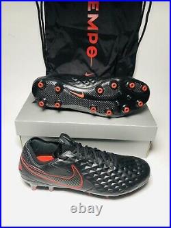 Nike Tiempo LEGEND 8 ELITE AG-PRO Men's Soccer Cleats Black Size 10 BQ2696-060