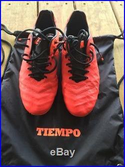 Nike Tiempo Legend 6 FG Lt Crimson/Metallic Silver-Total Crimson-Black SZ 10