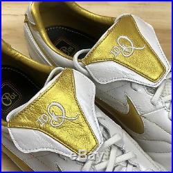 Nike Tiempo Legend 7 Elite 10R FG Gold White Ronaldinho Soccer Cleats Size 12