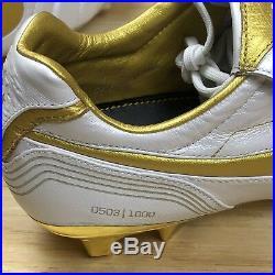 Nike Tiempo Legend 7 Elite 10R FG White Gold Ronaldinho Soccer Cleats Size 12