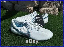 Nike Tiempo Legend 7 Elite AG-PRO ACC White Silver Men Sz 10.5 rare Limited
