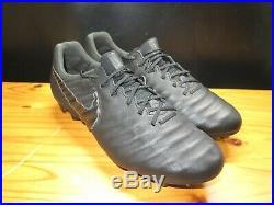 Nike Tiempo Legend 7 Elite Calfskin Black Soccer Cleats Men's 9.5 AV1906-001