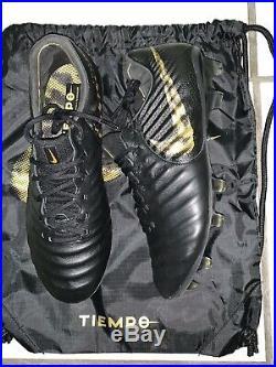 Nike Tiempo Legend 7 Elite FG Black-Gold(Black lux) Men's Size 9us