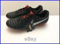 Nike Tiempo Legend 7 Elite FG Men's Black Red Soccer Cleats Sz 10.5