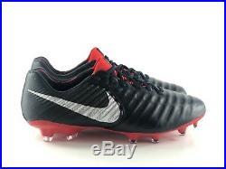 Nike Tiempo Legend 7 Elite FG Men's Soccer Cleats Black Red AH7238-006 Size 10