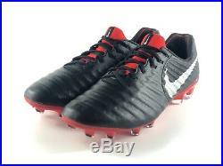 8f1227d7df07 Nike Tiempo Legend 7 Elite FG Men's Soccer Cleats Black Red AH7238-006 Size  11