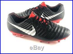 Nike Tiempo Legend 7 Elite FG Men's Soccer Cleats Black Red AH7238-006 Size 11