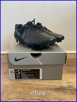 Nike Tiempo Legend 7 Elite FG Mens Size 8.5 (Black / Black) AH7238 001