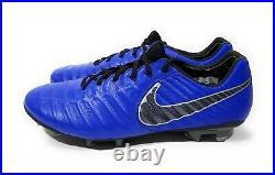 Nike Tiempo Legend 7 Elite FG Mens Soccer Cleats Blue Black Size 8