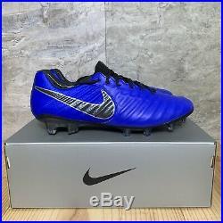Nike Tiempo Legend 7 Elite FG Size 10 Soccer Cleats Mens Racer Blue Black