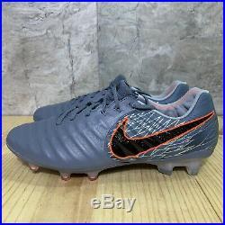 Nike Tiempo Legend 7 Elite FG Size 8 Gray Orange Black Soccer Cleats $230