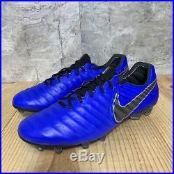Nike Tiempo Legend 7 Elite FG Size 9.5 Soccer Cleats Mens Racer Blue Black