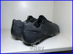 Nike Tiempo Legend 7 Elite FG Soccer Cleats Black Nike Academy Size 10 SAMPLE