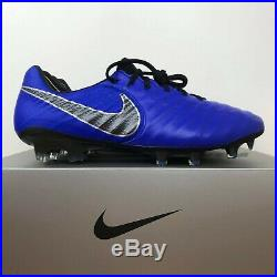 Nike Tiempo Legend 7 Elite FG Soccer Cleats Blue Black AH7238-400 Men's Size 9.5