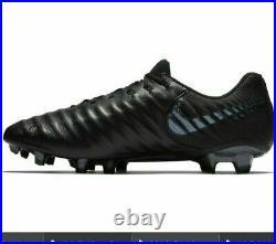 Nike Tiempo Legend 7 Elite FG Triple/Black AH7238-001 Sz 7.5