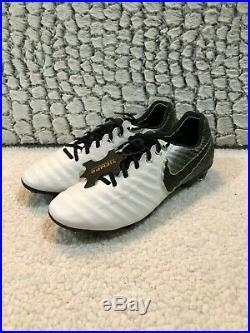 Nike Tiempo Legend 7 Elite FG White Soccer Cleats AH7238-100 Men's Size 7-10.5