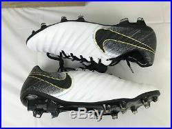 Nike Tiempo Legend 7 Elite Fg Soccer Cleats Size 15 White/black/gold Ah7238-100