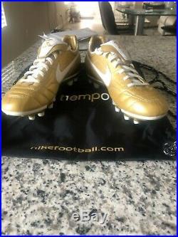 Nike Tiempo Legend 7 Elite Gold White Ronaldinho R10