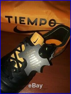 Nike Tiempo Legend 7 VII Elite FG US 10 897752-008 Black/White-Laser Orange-Volt