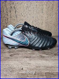 aaa2e504f Nike Tiempo Legend 7 VII FG 897752-004 Black Navy-Blue Soccer Cleats ...