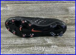 Nike Tiempo Legend 8 Elite ACC FG Soccer Cleats Black Red AT5293 060 Size 10.5