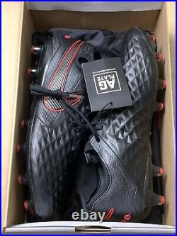 Nike Tiempo Legend 8 Elite AG-Pro Soccer Cleats BQ2696-060 Black/Red Mens 8