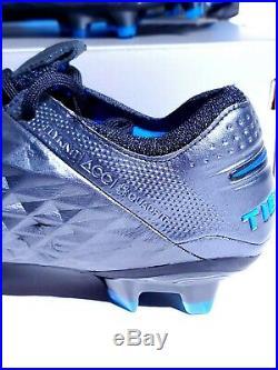 Nike Tiempo Legend 8 Elite FG ACC Black Blue Soccer Cleats AT5293-004 Mens SZ 10