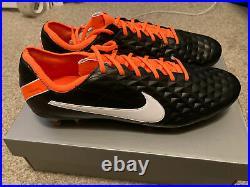 Nike Tiempo Legend 8 Elite FG ACC Black Total Orange CI7587-018 Mens Size 11.5