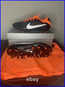 Nike Tiempo Legend 8 Elite FG ACC Black Total Orange Mens Size 11 CI7587-018