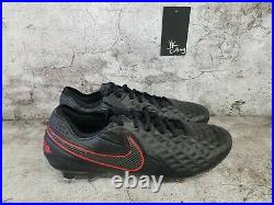 Nike Tiempo Legend 8 Elite FG ACC Size 9.5 Black Red Soccer Cleats AT5293-060