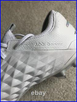 Nike Tiempo Legend 8 Elite FG All White Soccer Cleats Boots Sz 8 AT5293-100