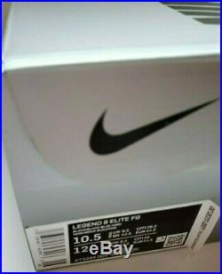 Nike Tiempo Legend 8 Elite FG Black Blue Soccer Cleats Boots AT5293-004 Sz 10.5