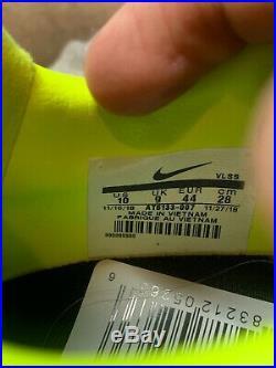 Nike Tiempo Legend 8 Elite FG Black-White-Volt Samples Men's Size 10 AT6133-007