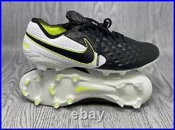 Nike Tiempo Legend 8 Elite FG Black/White/Volt Soccer Cleats AT5293-007