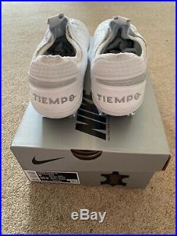 Nike Tiempo Legend 8 Elite FG Football Boots, White, UK 8, US 9, EU 42.5