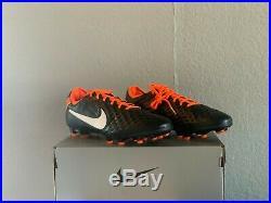 Nike Tiempo Legend 8 Elite FG Future DNA Pack Black/Orange Mens Size 10