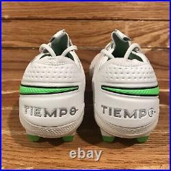 Nike Tiempo Legend 8 Elite FG'Platinum Tint Rage Green' AT5293-030 Men's Sz 9