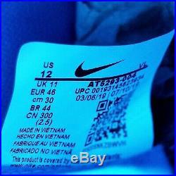 Nike Tiempo Legend 8 Elite FG Soccer Cleats Black Blue AT5293-004 Mens Size 12